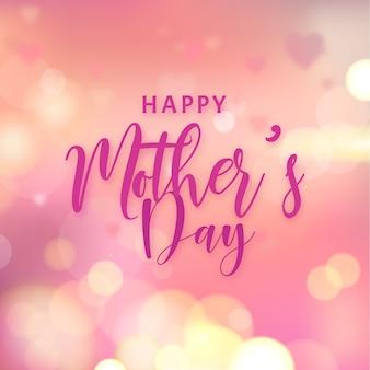 Día de la madre borrosa con efecto bokeh.