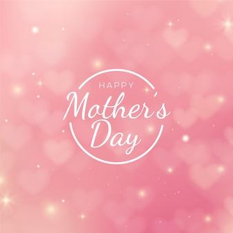 Día de la madre borrosa con saludo