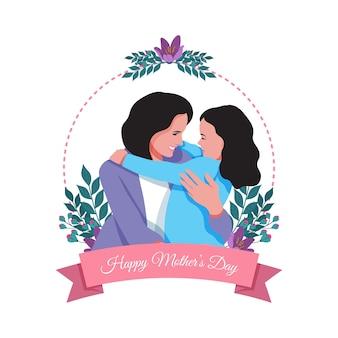 Día de la madre en diseño plano