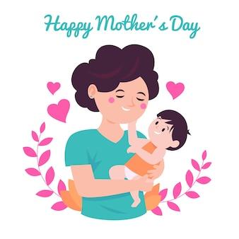 Día de la madre de estilo plano