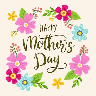 Día de la madre feliz floral