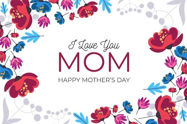 Día de la madre floral con mensaje