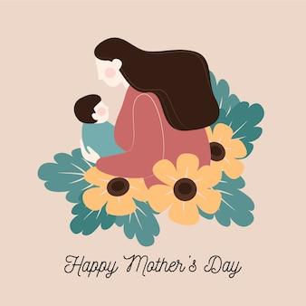 Día de la madre floral