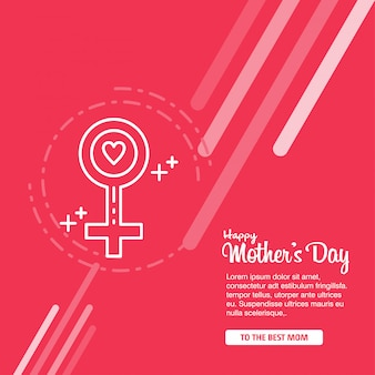 Día de la madre con flores de flor