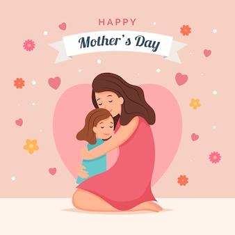 Día de la madre con madre e hijo.