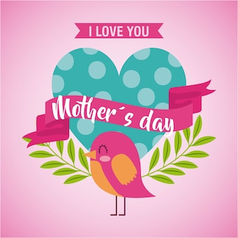 Día de la madre te amo tarjeta