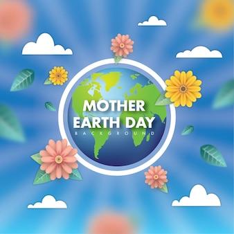Día de la madre tierra sol y brillo