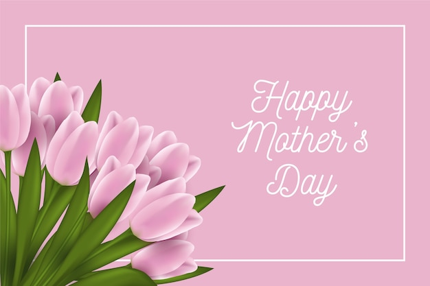 Dia de las madres con tulipanes