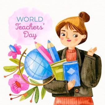Día del maestro dibujado