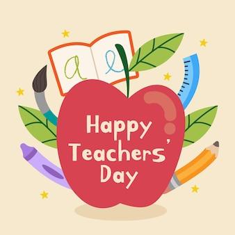 Día del maestro ilustrado