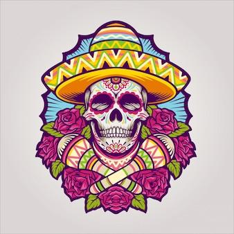 Dia de los muertos cráneo