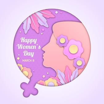 Día de la mujer en concepto de estilo de papel