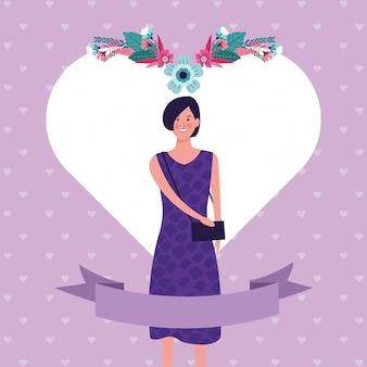 Dia de la mujer de dibujos animados