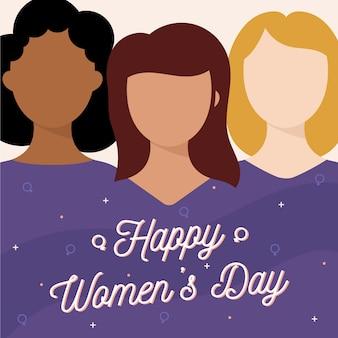 Día de la mujer en diseño plano.