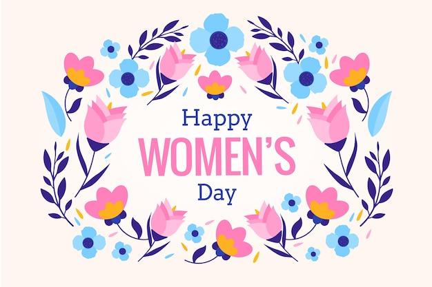 Día de la mujer con fondo de flores