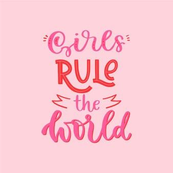 Día de la mujer con letras motivadoras.