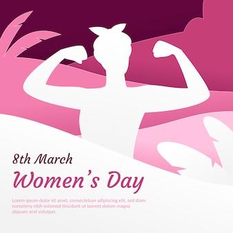 Día de la mujer en papel.