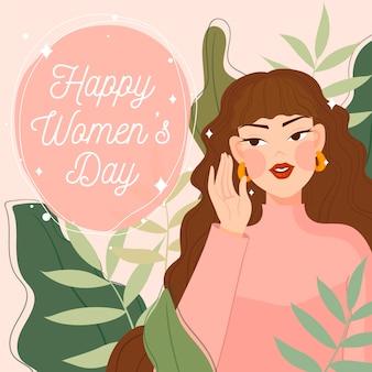Día de la mujer plana