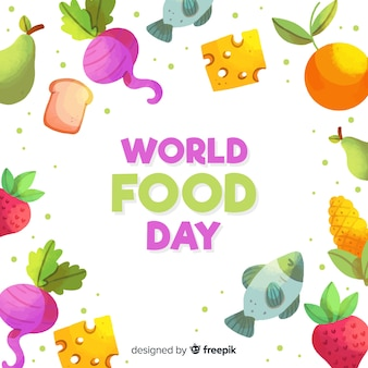 Día mundial de la acuarela de la comida