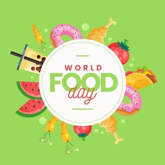 Día mundial de la alimentación plana