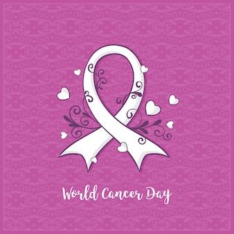 Día mundial del cáncer plano