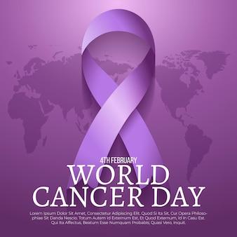 Día mundial del cáncer realista