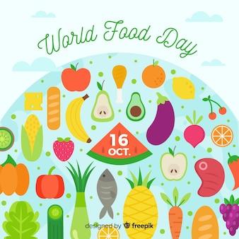 Día mundial de la comida de diseño plano