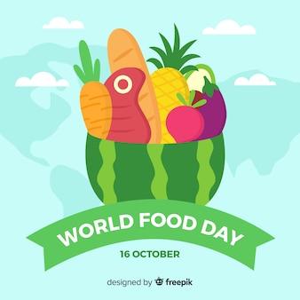 Día mundial de la comida plana
