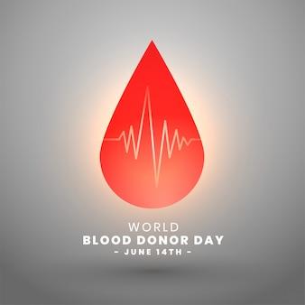 Día mundial del donante de sangre 14 de junio diseño de fondo