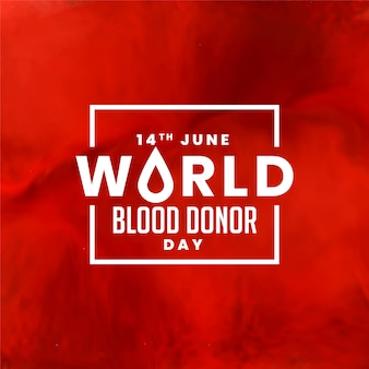 Día mundial del donante de sangre roja.