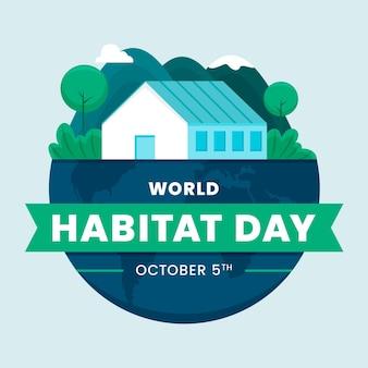 Día mundial del hábitat ilustrado