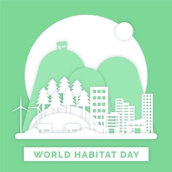 Día mundial del hábitat en papel