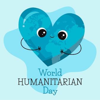 Día mundial humanitario dibujado a mano