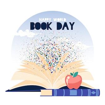 Día mundial ilustrado del libro
