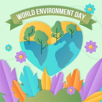 Día mundial del medio ambiente en papel