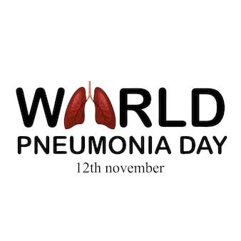 Día mundial de la neumonía, noviembre. detén la neumonía. salva a un niño.