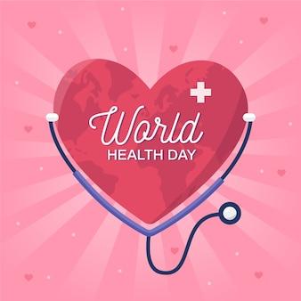 Día mundial de prevención de la salud plana