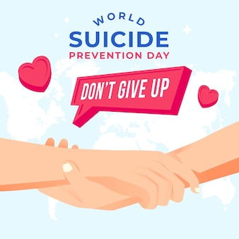 Día mundial de la prevención del suicidio con las manos.