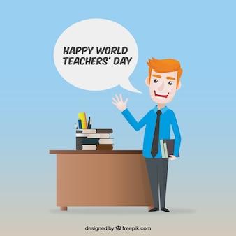 Día mundial del profesorado, profesor joven