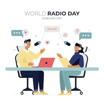 Día mundial de la radio plana