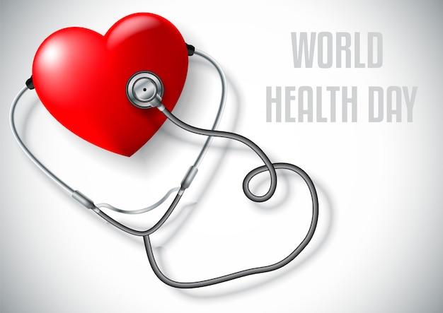 Día mundial de la salud, concepto sanitario y médico