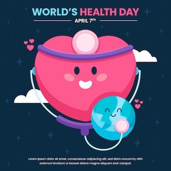Día mundial de la salud con corazón y planeta