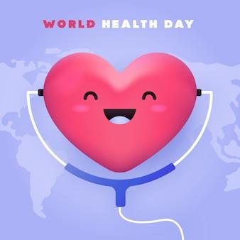 Día mundial de la salud con corazón