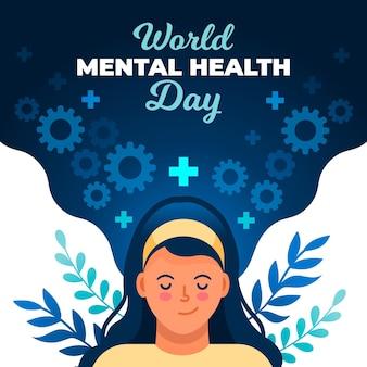 Día mundial de la salud mental en plano