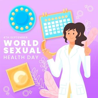 Día mundial de la salud sexual con el médico.
