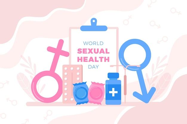 Día mundial de la salud sexual con signos de género.