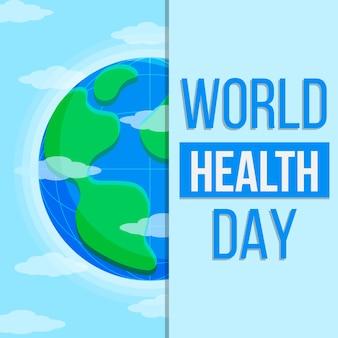 Día mundial de la salud con tierra