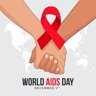 Día mundial del sida con cinta.