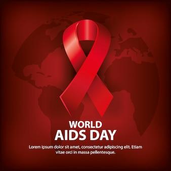 Día mundial del sida con cinta