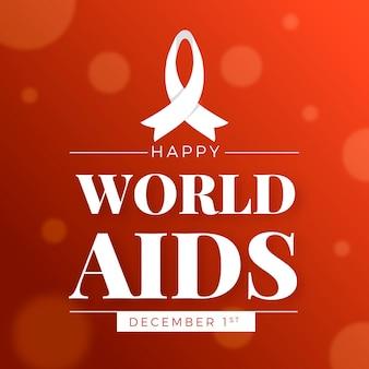 Día mundial del sida en diseño plano.